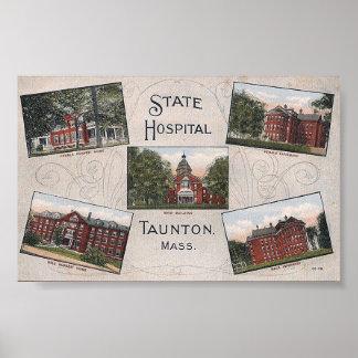 Impresión de la postal de la Multi-Vista del hospi Póster