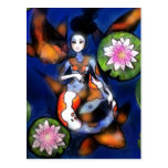 Impresión de la postal de la sirena de Koi