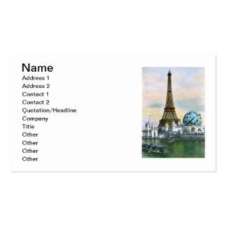 Impresión de la postal del vintage de la torre tarjetas de visita