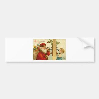 Impresión de la postal del vintage del navidad de  pegatina para auto