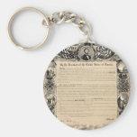 Impresión de la proclamación de la emancipación llaveros personalizados
