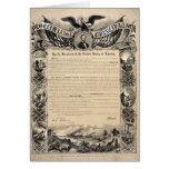 Impresión de la proclamación de la emancipación tarjetas