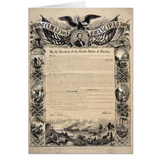 Impresión de la proclamación de la emancipación tarjeta de felicitación