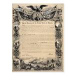Impresión de la proclamación de la emancipación postal