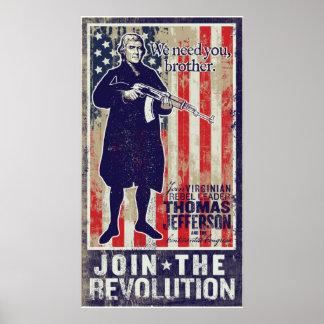 Impresión de la propaganda de la revolución de Jef Póster