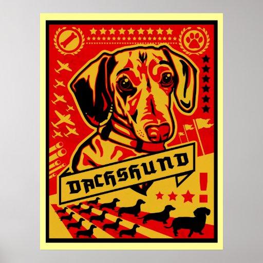 Impresión de la propaganda del Dachshund Poster