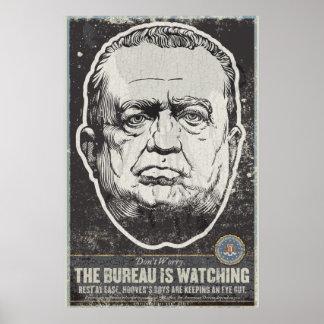 Impresión de la propaganda del FBI J Edgar Hoover Poster