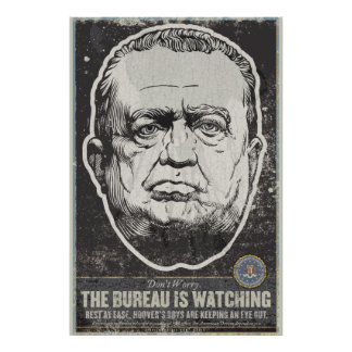 Impresión de la propaganda del FBI J Edgar Hoover Póster