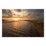 Impresión de la puesta del sol de la playa: Playa  Foto