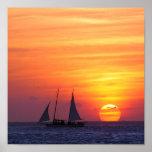 Impresión de la puesta del sol impresiones