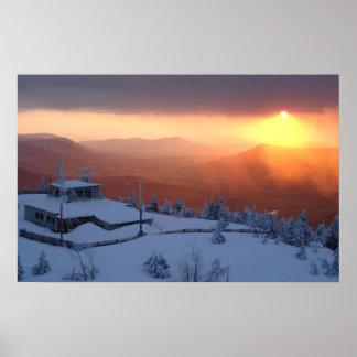 Impresión de la puesta del sol Nevado Impresiones