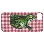 Impresión de la rana de la comida campestre iPhone 5 cárcasas