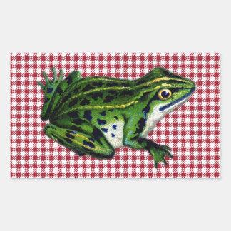 Impresión de la rana de la comida campestre rectangular altavoces