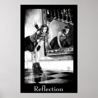 Impresión de la reflexión posters