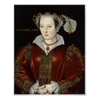 Impresión de la reina Catherine Parr Póster