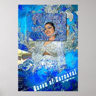 """""""Impresión de la reina de Carnaval"""" Posters"""
