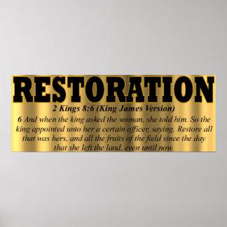 Impresión de la restauración impresiones