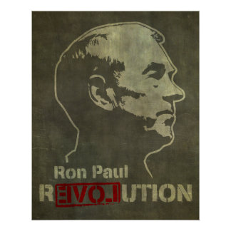 Impresión de la revolución de Ron Paul Poster