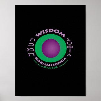 Impresión de la sabiduría póster