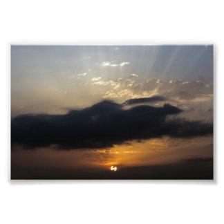 Impresión de la salida del sol 2 fotografía