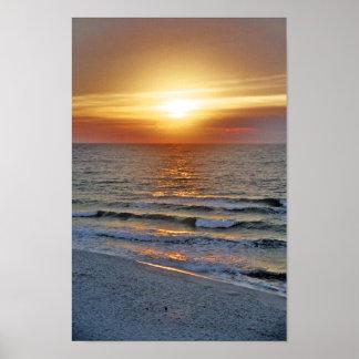 Impresión de la salida del sol de Pensacola Posters