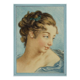 """Impresión de la """"señora azul"""" bella arte póster"""