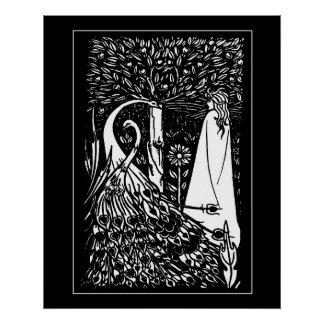 Impresión de la señora de Beardsley y del poster d