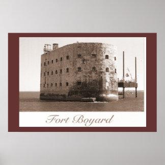 Impresión de la sepia, Fort Boyard, lugar de la TV Póster