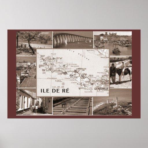 Impresión de la sepia, Ile de Re, colonia anterior Poster