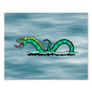 Impresión de la serpiente de mar fotografía