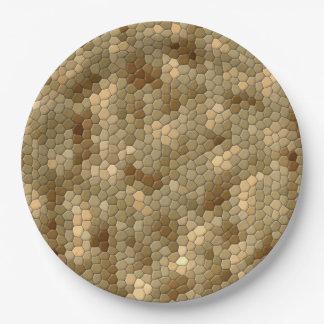 Impresión de la serpiente plato de papel 22,86 cm