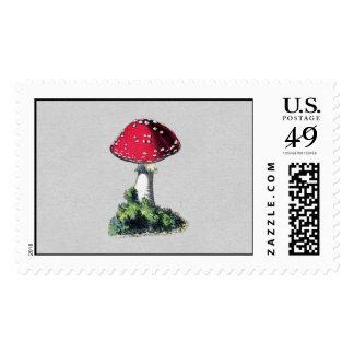 Impresión de la seta del vintage sello postal