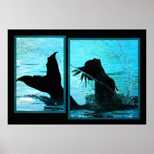 Impresión de la sirena poster