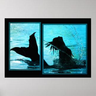Impresión de la sirena póster