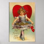 Impresión de la tarjeta del día de San Valentín de Póster