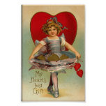 Impresión de la tarjeta del día de San Valentín Póster