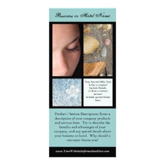 Impresión de la tarjeta del estante, balneario o tarjetas publicitarias
