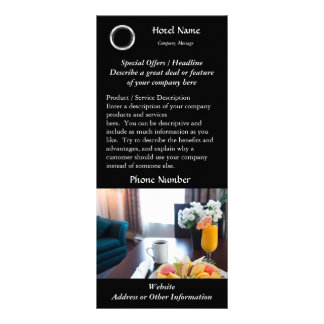 Impresión de la tarjeta del estante del hotel tarjetas publicitarias