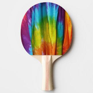 Impresión de la tela del teñido anudado pala de ping pong