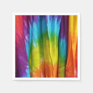 Impresión de la tela del teñido anudado servilletas de papel