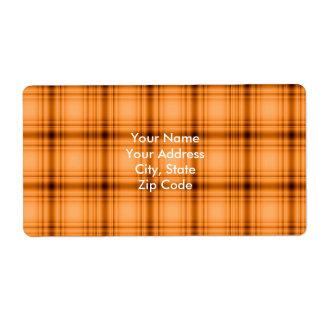 Impresión de la tela escocesa de Brown del cobre Etiqueta De Envío