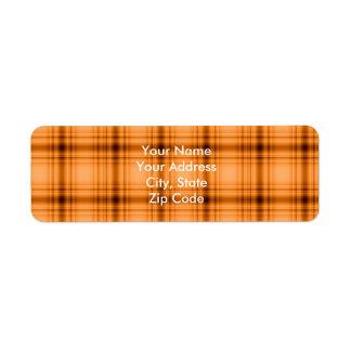 Impresión de la tela escocesa de Brown del cobre Etiqueta De Remite