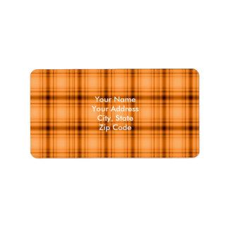 Impresión de la tela escocesa de Brown del cobre Etiquetas De Dirección