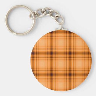 Impresión de la tela escocesa de Brown del cobre Llavero Redondo Tipo Pin