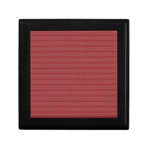 Impresión de la tela escocesa joyero cuadrado pequeño
