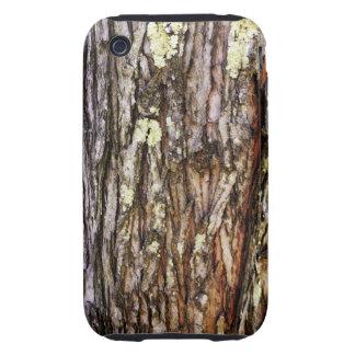 Impresión de la textura de la corteza de árbol iPhone 3 tough carcasa