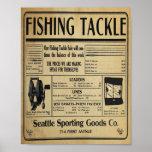Impresión de la tienda de los aparejos de pesca poster