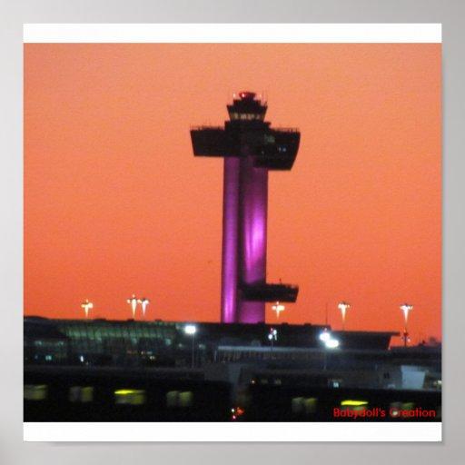Impresión de la torre del aeropuerto impresiones
