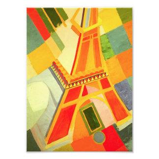 Impresión de la torre Eiffel de Roberto Delaunay Cojinete