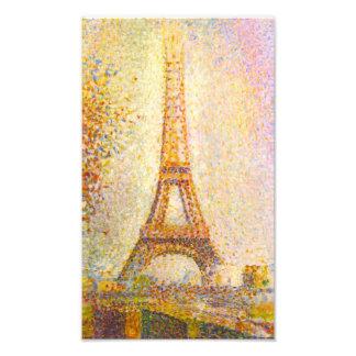 Impresión de la torre Eiffel de Seurat Impresiones Fotográficas